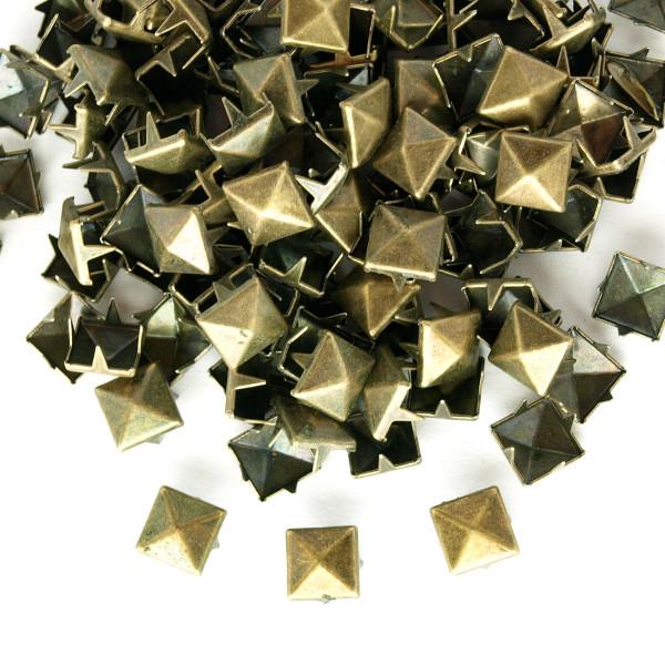 Nieten Pyramidennieten Altmessing 8mm 50 100 1000 Stück
