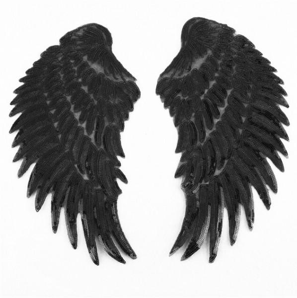 Paar Applikation Pailletten Flügel zum bügeln