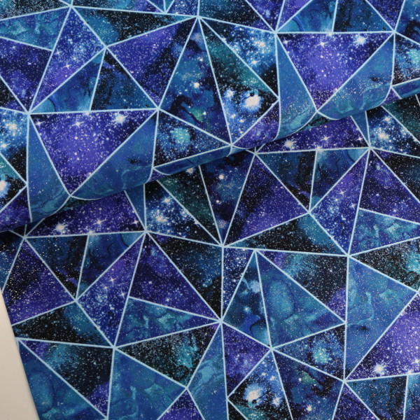 Baumwollstoff Glitzer Galaxy Shattered
