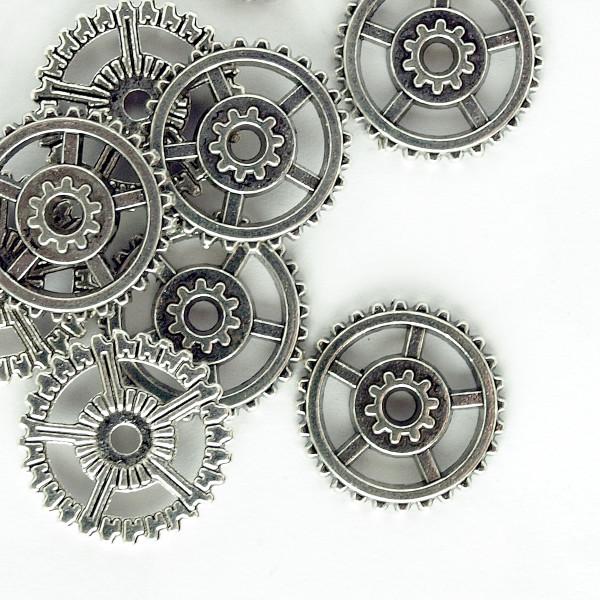 Zahnrad Steampunk Pack Silber Basteln Uhrenteile Schmuck Modellbau Ring