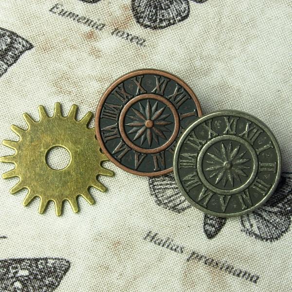 "Steampunk Ösenknopf ""Clock"""