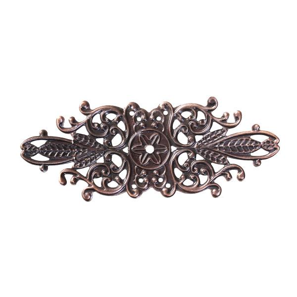 10 Biegsame Metallornamente 85mm Kupfer