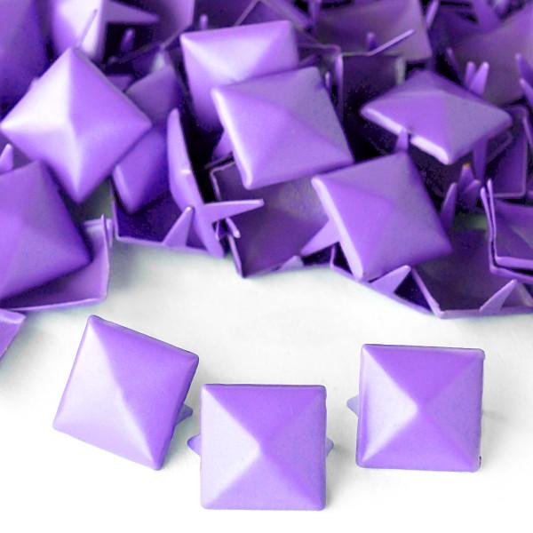 Nieten Pyramidennieten Lila Violett 12mm Mengenrabatt 50 100 Splint