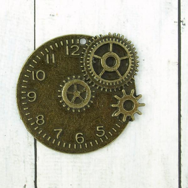 Anhänger Gear Clock Uhr