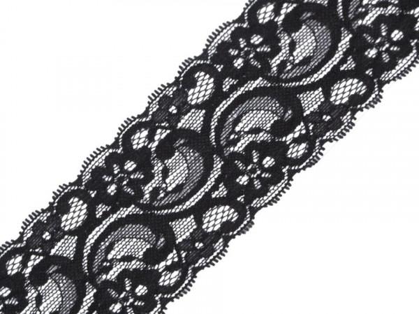 Spitze elastisch 55mm schwarz