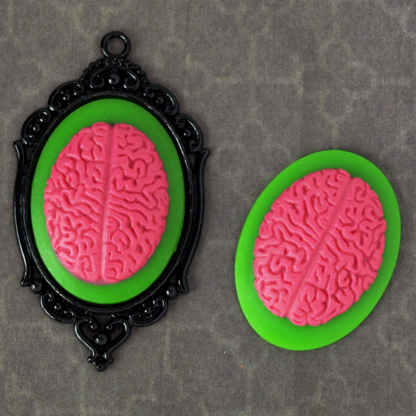 Kamee Brains zombie horrorpunk diy material 30*40