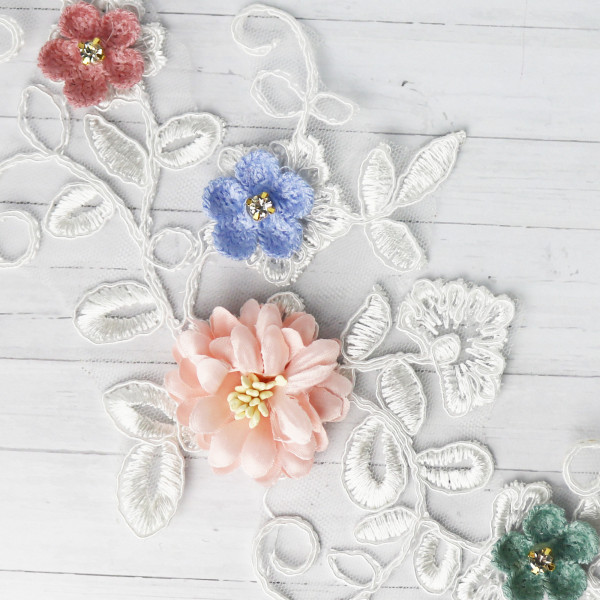 Applikation Frühlingsblüten