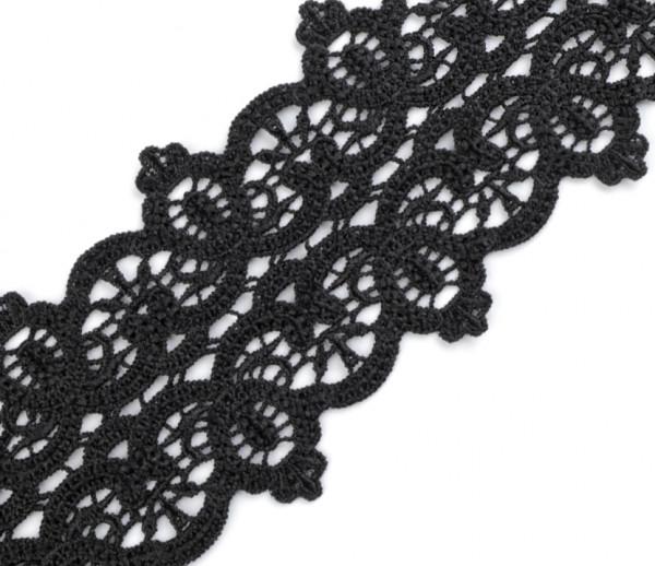 Spitzenborte 8cm breit Schwarz