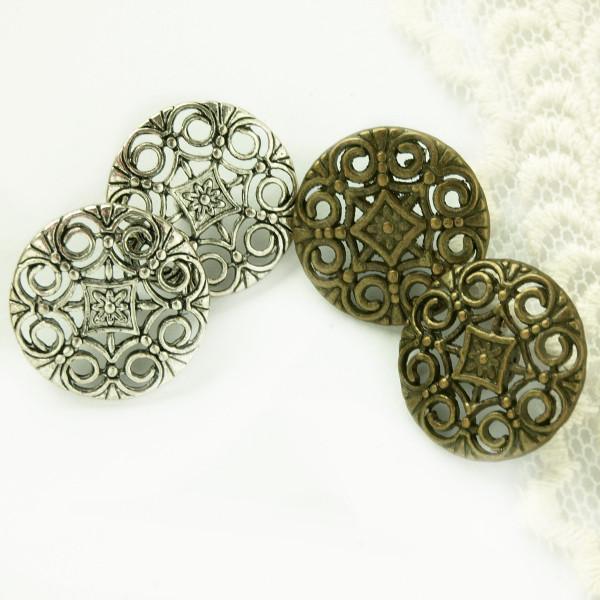 Knopf Metall ziseliert Ornamente Material kaufen