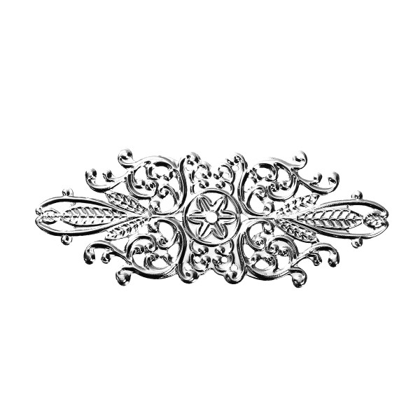 10 Biegsame Metallornamente 85mm Silber