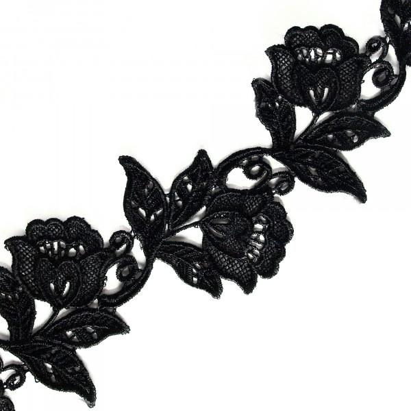 Borte Blüten Schwarz 8cm