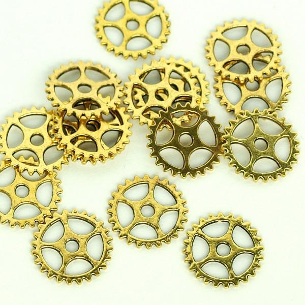 Mini kleine zahnräder gold kaufen tüte