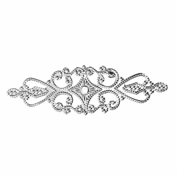 10 Biegsame Metallornamente 92mm Silberfarben