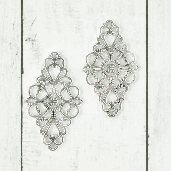 Ornamentplatte Silber