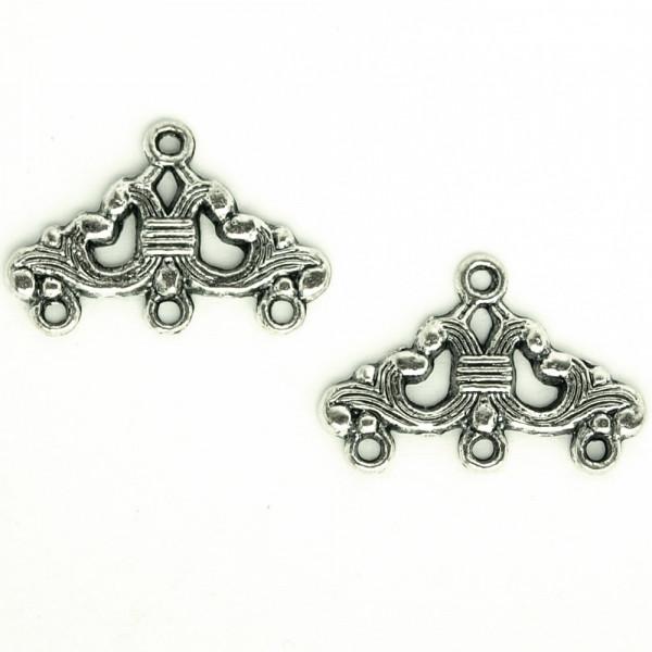 Schmuckverbinder Silber verziert barock gothic material schmuck kaufen