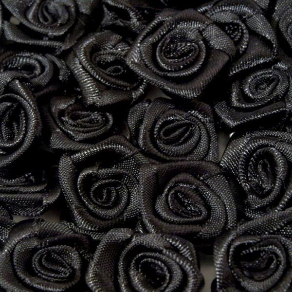 stoffrosen, kaufen, schwarz 12mm