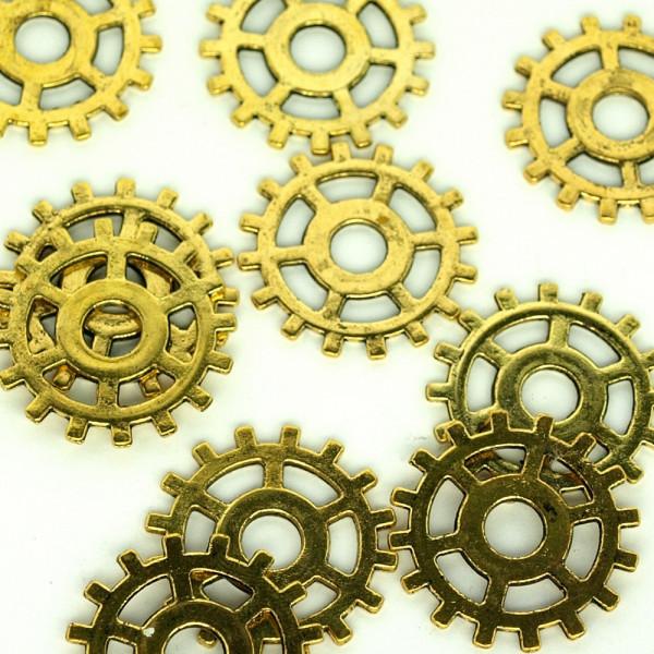 Zahnräder Gold kaufen steampunk material