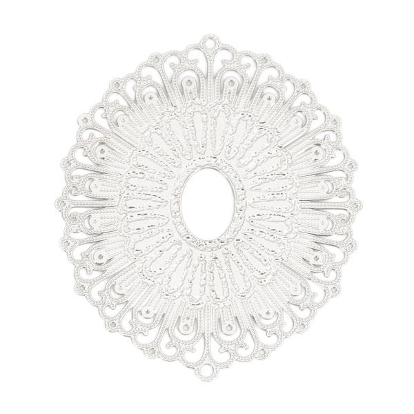 Filigree Verbinder silberfarben Oval 34mm
