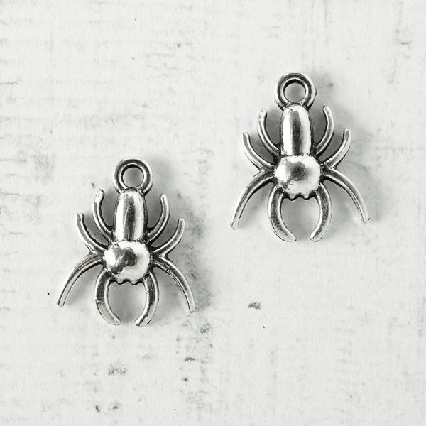 Anhänger Mini Spinnen 14mm schmuck charms diy gothic basteln