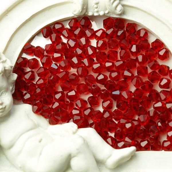 Perlen, schmuck, kaufen, material, glas, rot, 400, bicone, 4mm, großhandel