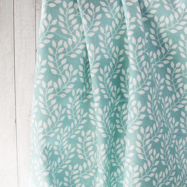 Webstoff Blaugrün Blätter