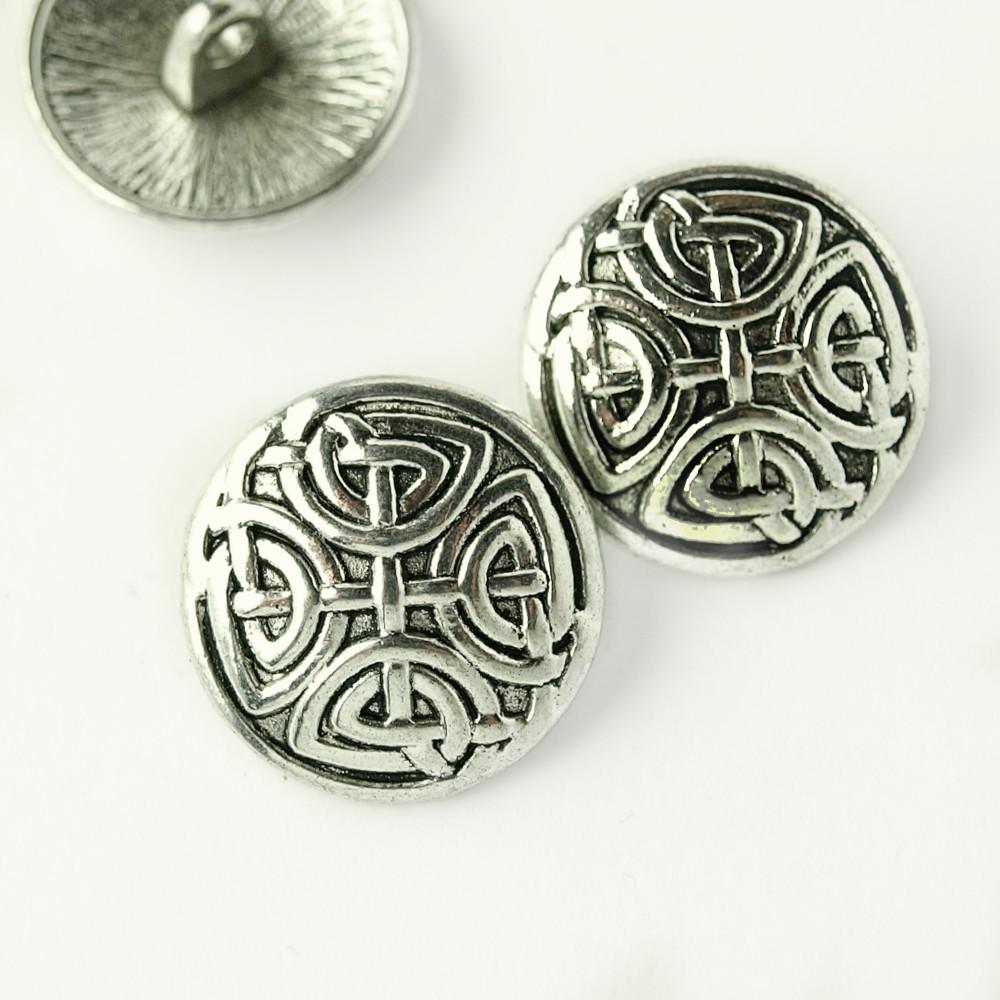Dirndl Knopf Knöpfe Silber 1,8cm Metall  Aktion 2stck = 1€ NEU