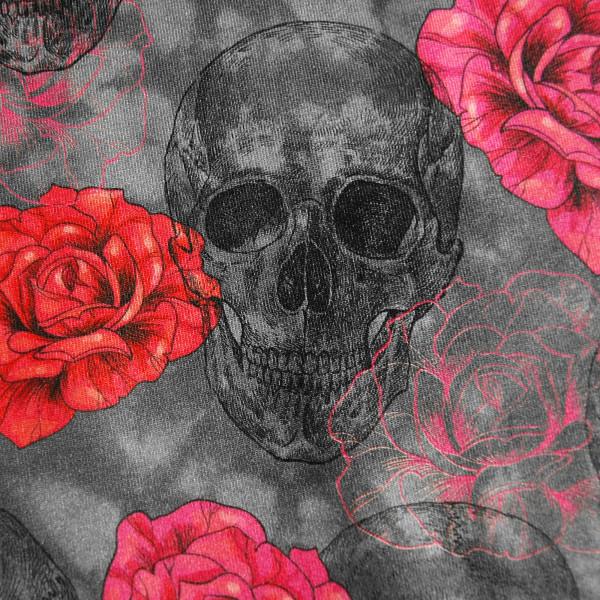 Jersey Digitaldruck Totenkopf Rosen