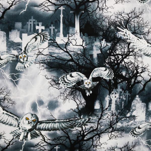 Webstoff Scary Owls Eulen