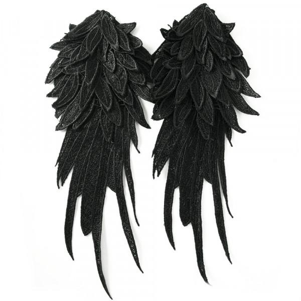 1 Paar Flügel 3D Schwarz