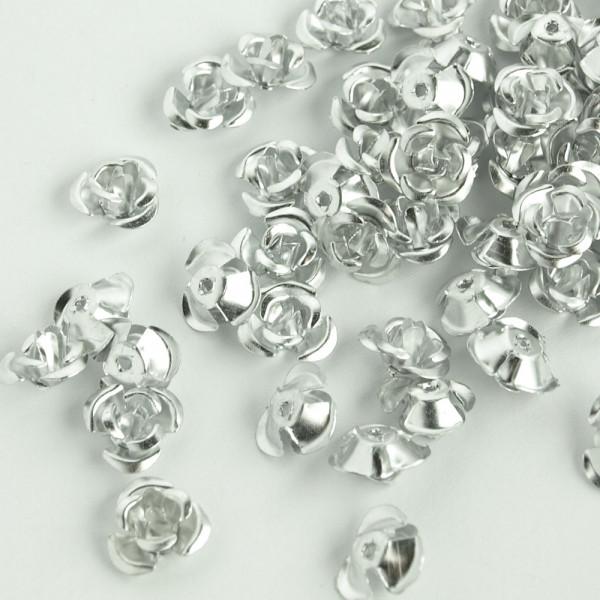 metallrosen röschen silber kaufen günstig 100 stück material schmuck