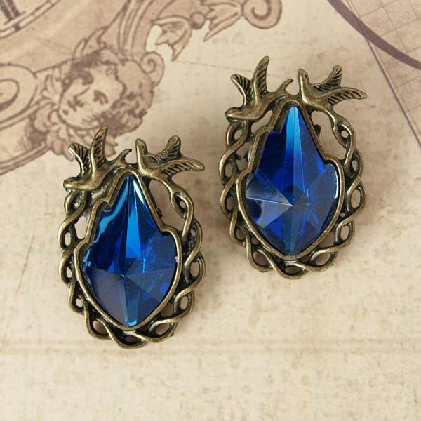 Juwelen IV Altmessing / Blau