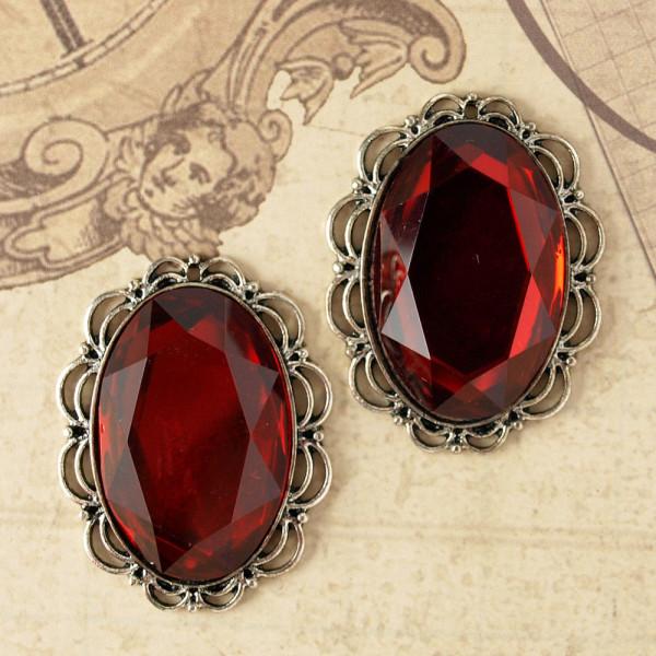 Juwelen III Silber / Rot