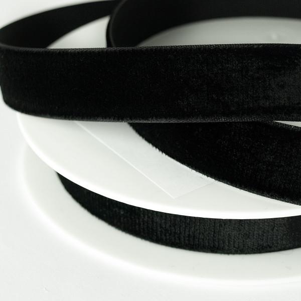 Samtband schwarz 16mm Rolle Großhandel