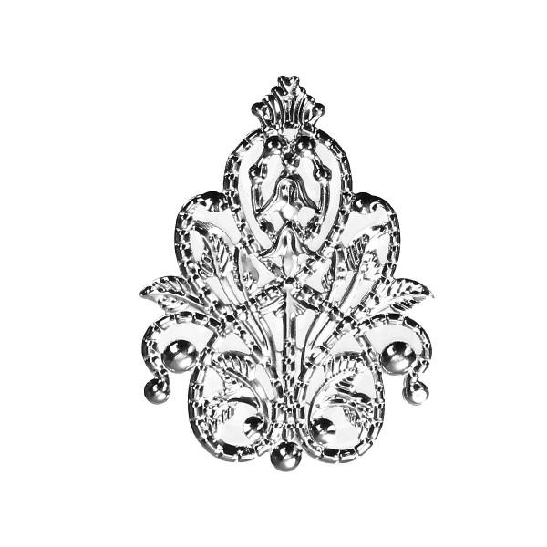 10 Biegsame Metallornamente 48mm Silber