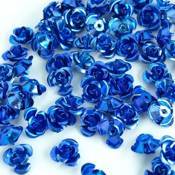 metallrosen röschen blau kaufen günstig 100 stück material schmuck
