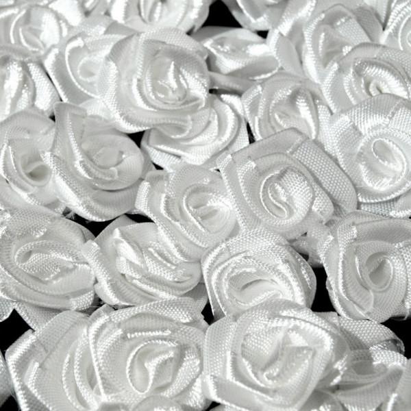 stoffrosen, kaufen, weiß 12mm