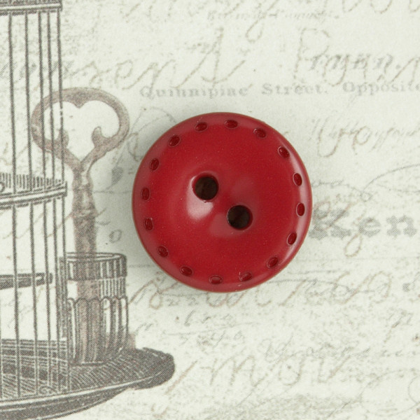 "Knopf Rot ""Stitches"" 17mm"