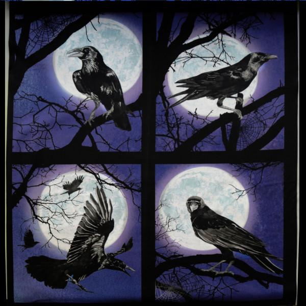 "Baumwollstoff ""Darkest Sky"" Panel Lila"