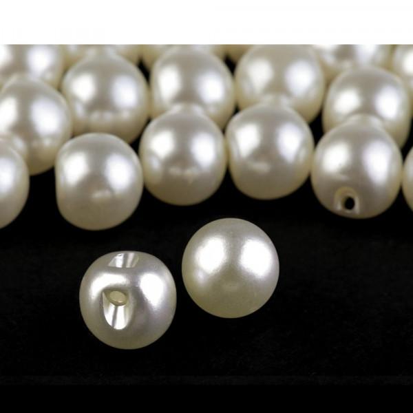 Knöpfe Perlen Design 10mm Creme
