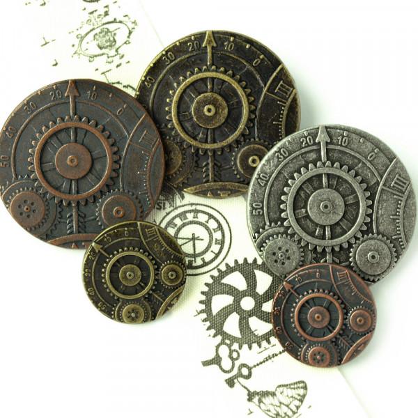 Knöpfe Steampunk Mechanik Zahnrad Uhrwerk kaufen schneidern nähen material kaufen kostüm cosplay