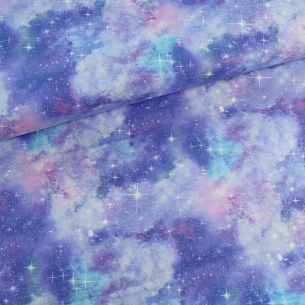 Baumwollstoff Glitzer Pastell Galaxy