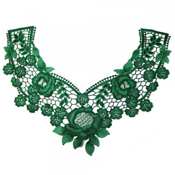 Spitzenkragen Grün Metallic