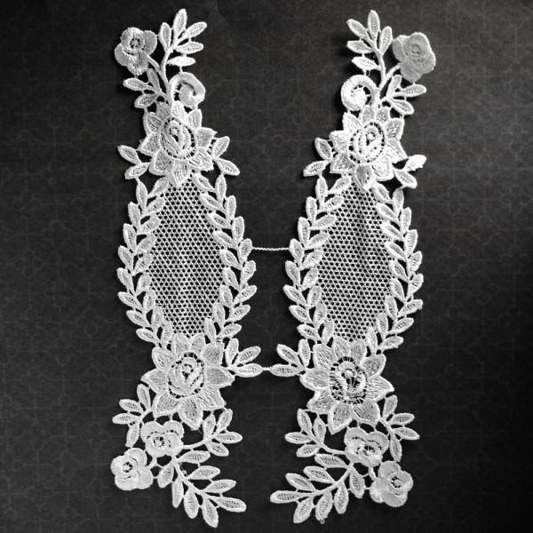 Spitzenapplikation, Abendmode, Spitze, vintage, Edel, Hochzeit, kaufen, selber machen, floral, ornamente