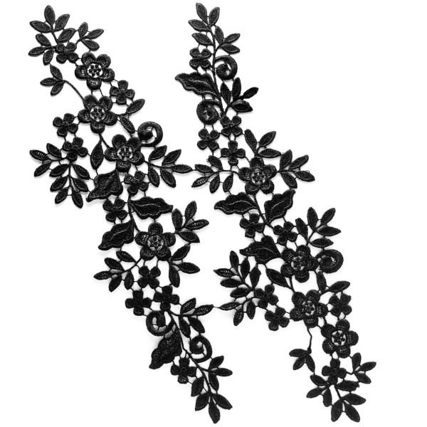 Applikation Spitze Schwarz Venise Floral DIY kaufen