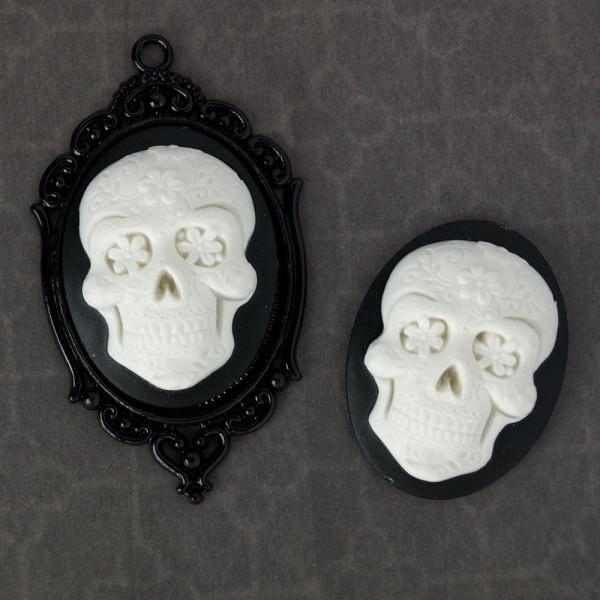 Kamee totenkopf skull sugarskull diy material 30*40