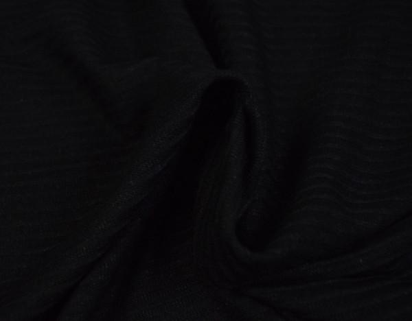 Feinstrick schwarz Stoff meterware cardigan