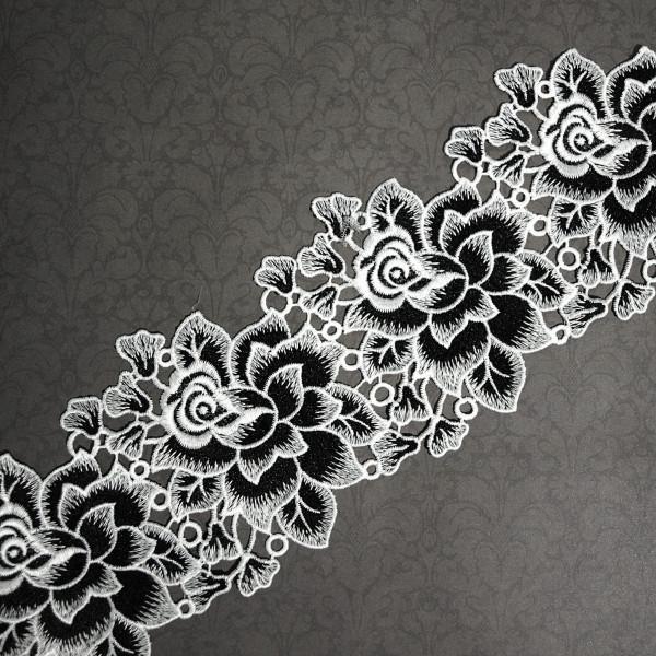 Borte Rosen Schwarz Weiß 12cm