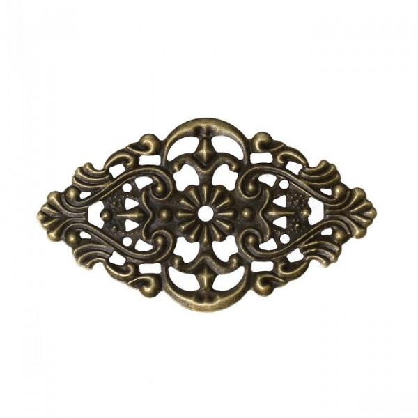 10 Ornament Verbinder Biegsam Altmessing