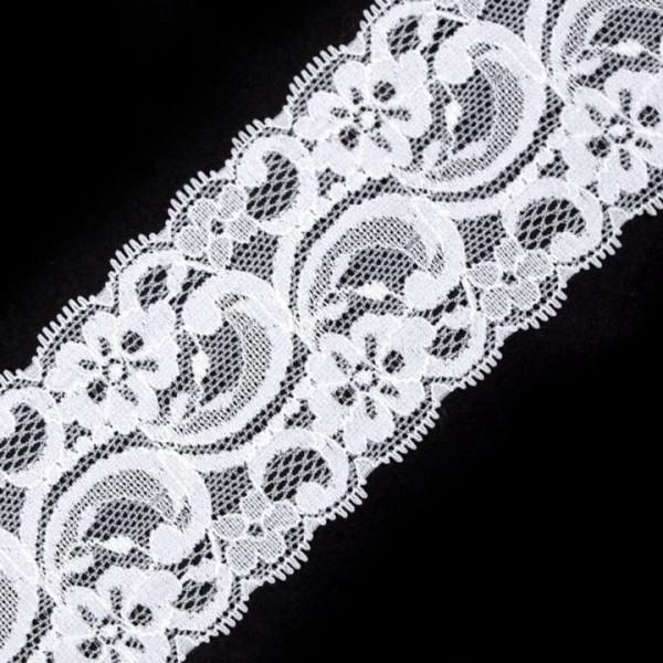 Spitze elastisch 55mm Weiß
