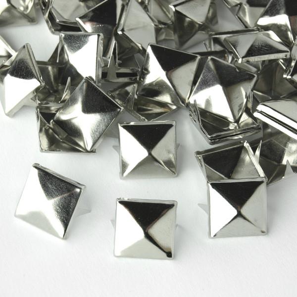 Nieten Pyramidennieten Silber Metall 12mm 50 100 pack günstig Deutschland